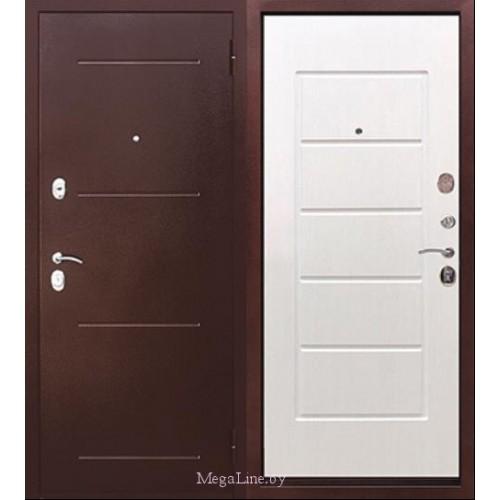 Входные двери 7.5 см Гарда Антик Белый ясень