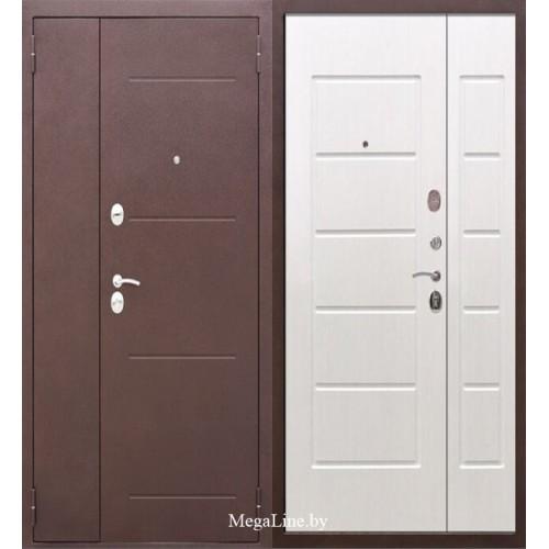Входные двери 7.5 см Гарда Антик Белый ясень двупольные (тамбурные)