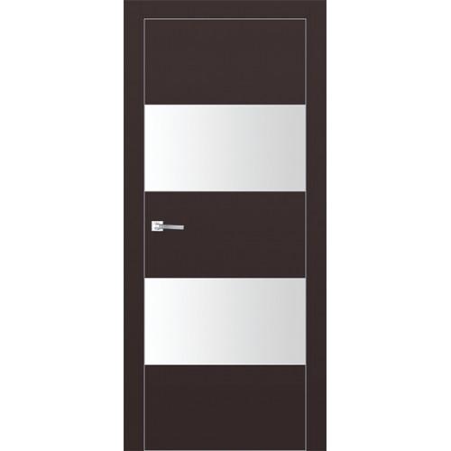 Профиль дорс 10Е Темно-коричневый - со стеклом