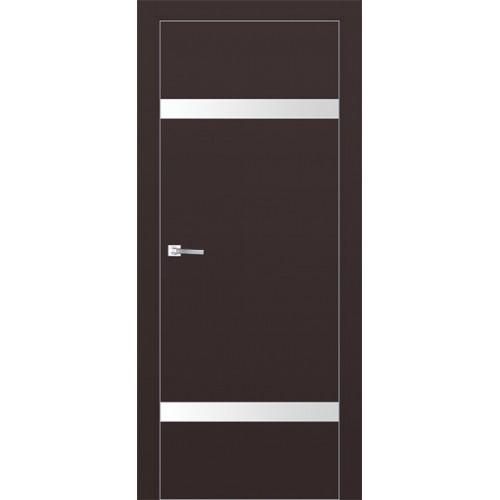 Профиль дорс 3Е Темно-коричневый - со стеклом