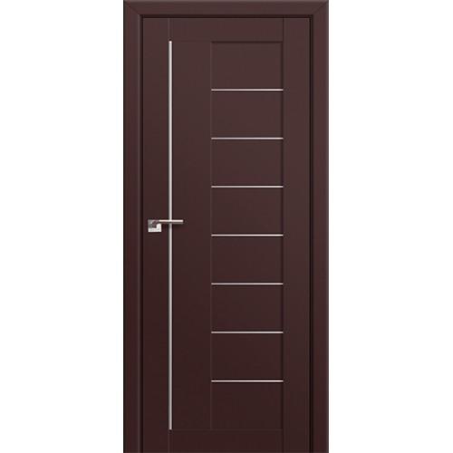 Профиль Дорс 17U Темно-коричневый - со стеклом