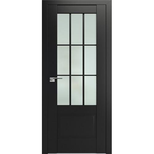 Профиль дорс 104U Черный матовый - со стеклом
