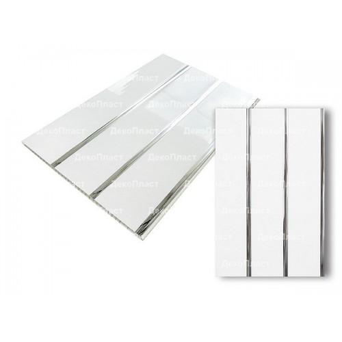 Потолочные ЛЮКС 2-х секционные панели Серебро
