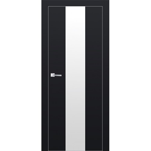 Профиль дорс 25Е Черный матовый - со стеклом
