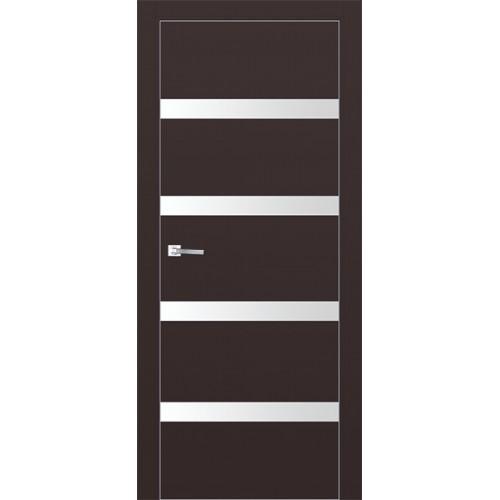 Профиль дорс 26Е Темно-коричневый - со стеклом