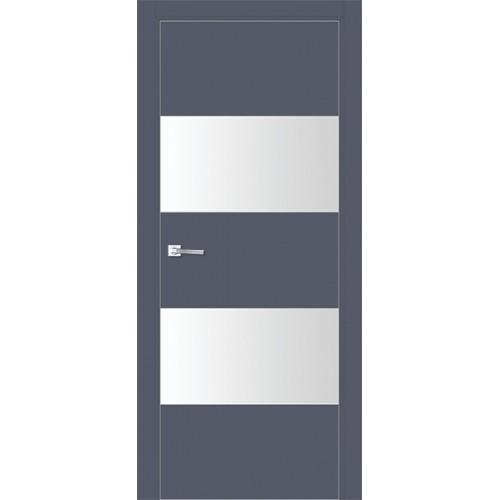 Профиль дорс 10Е Антрацит - со стеклом