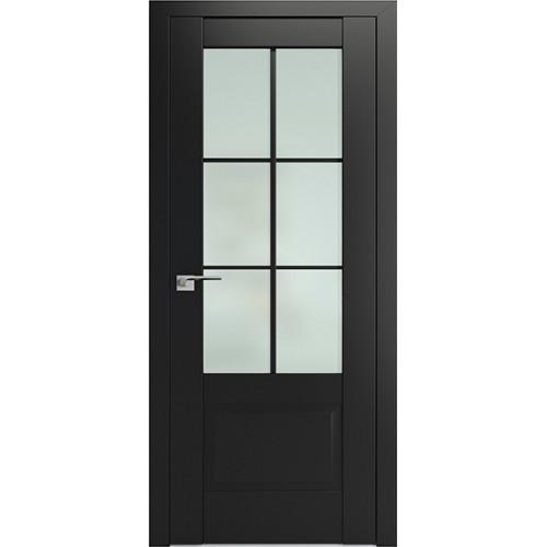 Профиль дорс 103U Черный матовый - со стеклом