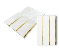 Потолочные ЛЮКС 2-х секционные панели Золото